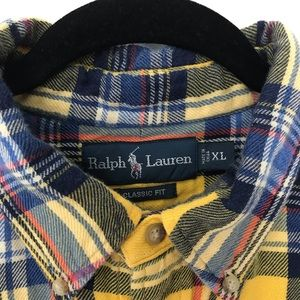 Polo by Ralph Lauren Shirts - Polo Ralph Lauren XL Classic Yellow Plaid Flannel